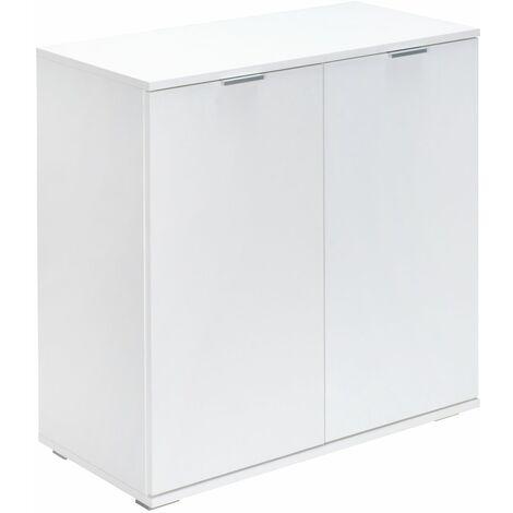 """Cómoda aparador """"Alba"""" con puertas y cajones organizador mueble de interior para almacenar Blanco o marrón"""