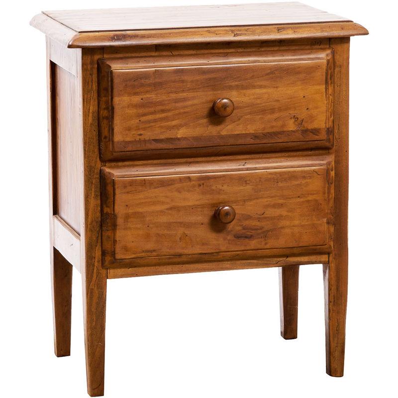 Biscottini - Cómoda de estilo Country de madera maciza de tilo acabado con efecto nogal 100x48x95 cm