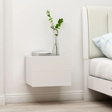 Comodino Bianco 40x30x30 cm in Truciolato