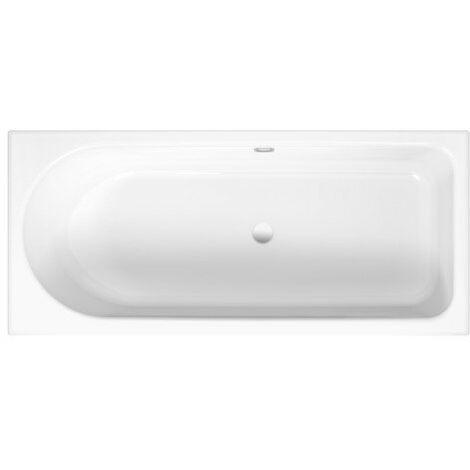 Comodino vasca da bagno Ocean 170x80 cm, 8765, troppopieno posteriore, bianco, colorazione: Bianco - 8765-000