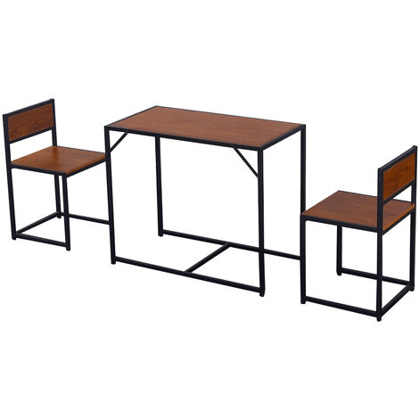 Compact 2 Seater Kitchen Dining Table and Chairs Set