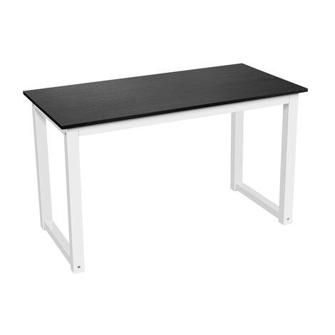 Compact Corner Computer Desk PC Laptop Desktop Study Writing Table Workstation for Home Office 120 x 60 x 71.5 cm, Black