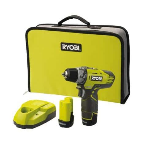 Compact drill driver RYOBI 12V Lithium-ion - 2 speeds - 2 1.3 Ah batteries R12DD-LL13S