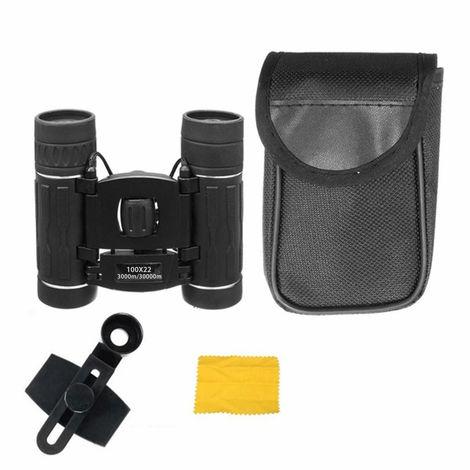 Compact Mini 100x22 HD Zoom Lens Binoculars Telescope High Power Night Vision