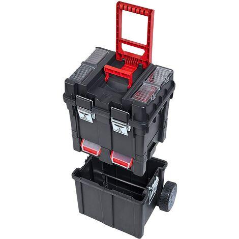 Compact Trolley Box Carro para herramientas con cierres metalicos