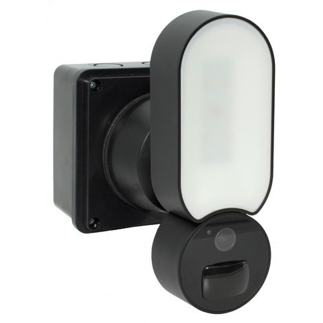 Compact Wi-fi Floodlight Camera - 1080P Cameras - 800 Lumens Light - Recording & Customized Alerts [002-2330]