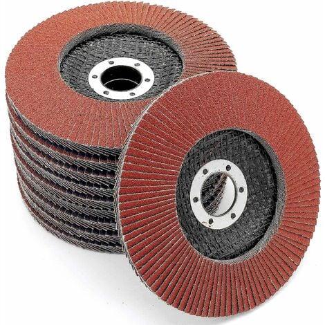 """main image of """"Compartiments Disques │ marron │ 10 pièces │ Ø 125 mm │ grain 120 │ Standard │ Disques Abrasifs │ Disques à Lamelles"""""""