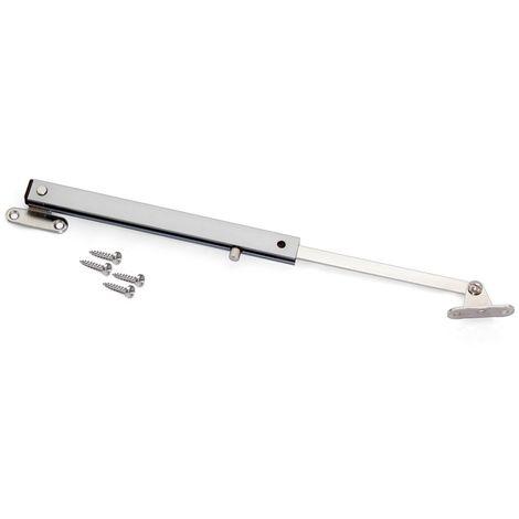 Compás para puertas abatibles, Acero y aluminio, anodizado mate, 2 ud.
