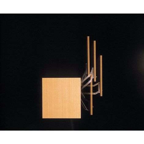 Compas pour porte relevable - Décor : Gris - Largeur de porte mini : 600 mm - Charge mini : 3,6 kg - Charge maxi : 4,5 kg - Pour : Porte bois - Amortisseur : Avec - Angle d'ouverture : 105° - Hauteur - Charge maxi : 4,5 kg