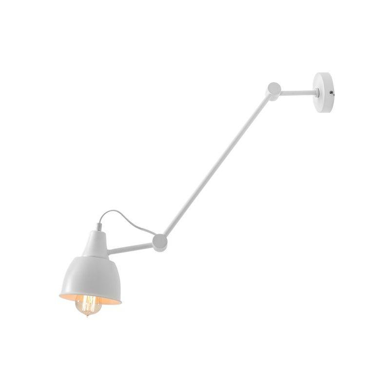 Homemania - Compass Haengelampe - Kronleuchter - Deckenkronleuchter - Weiss aus Metall, 13,5 x 13,5 x 86 cm, 1 x E27, Max 60W