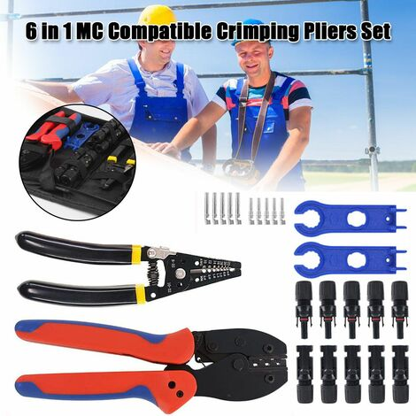 Compatible Crimpers Terminal Set Electrical Wire Plier Connector Electrical Wiring Tools Solar Power Crimping Pliers