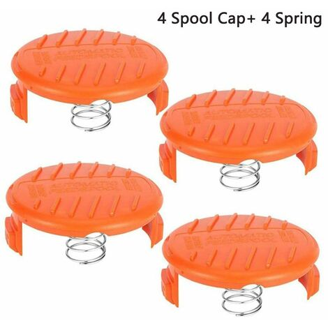 Compatible Replacing the Black & Decker AF-100 Lawn mower Spare Spool Cap Covers with spring for Trimmer Spool Tool ABS Material Strong and durable (4+4)