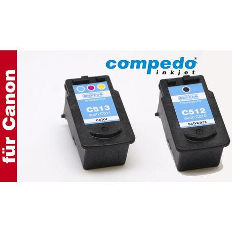Compedo Cartouche d'encre de remplacement pour l'imprimante Canon CL-5111 ou PG-5101