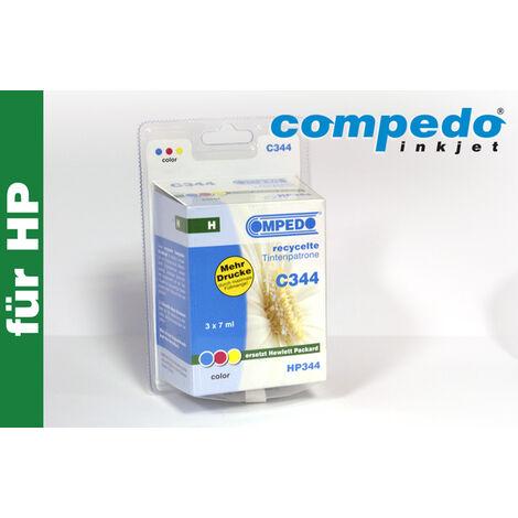 Compedo Cartouche d'imprimante recyclée C344 HP344 cyan magenta jaune