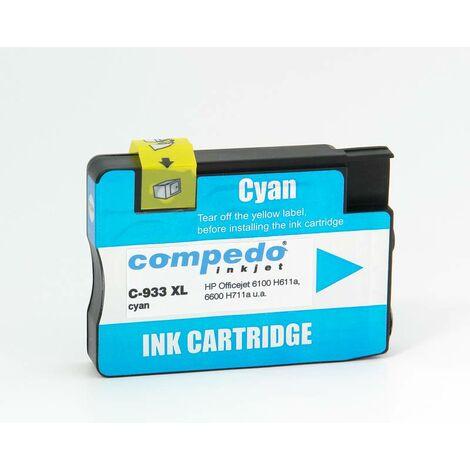 Compedo Cartouche d'imprimante recyclée C933XL HP933XL cyan