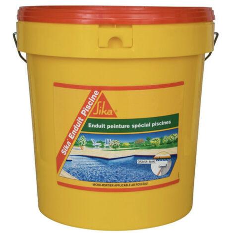"""main image of """"Complément d'imperméabilisation pour piscine SIKA Enduit Piscine - Blanc écume - Kit 18,48kg - Blanc"""""""