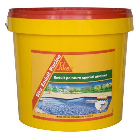Complément d'imperméabilisation pour piscine SIKA Enduit Piscine - Blanc écume - Kit 6,16kg - Blanc
