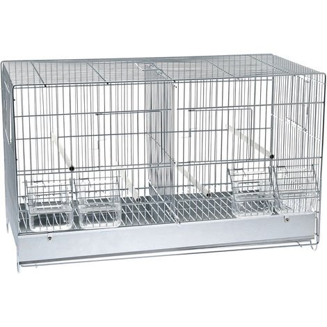 Complete cage with steel divider for birds Ferribiella