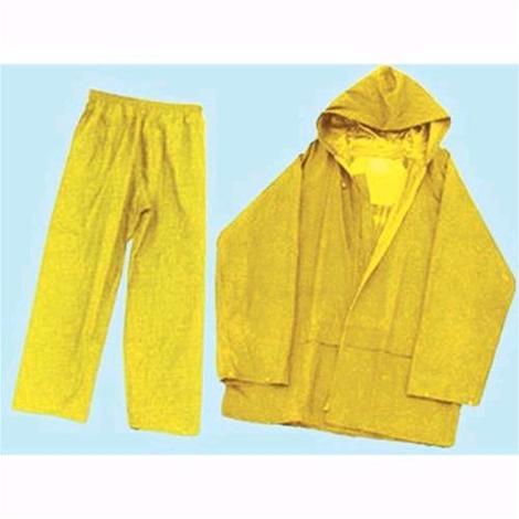 STI Completo Impermeabile Antipioggia Giacca e Pantaloni in PVC