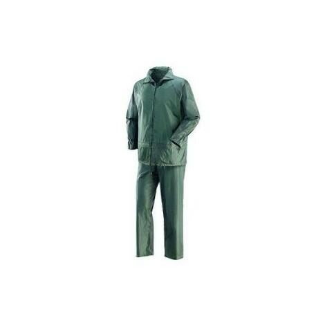 Giacca Pantaloni Impermeabile Mimetica Pvc AntiPioggia con Cappuccio dfh