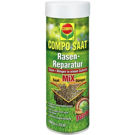 Compo 22211 - Miscela riparatrice di sementi e fertilizzante per prato, 360 g per 15 m²