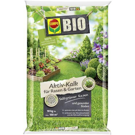 COMPO BIO Aktiv-Kalk für Rasen und Garten 10 kg für max. 150 m²
