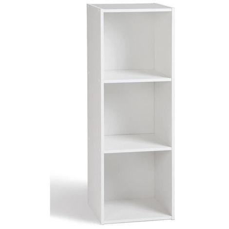 COMPO Meuble De Rangement 3 Cases Contemporain Blanc   L 31 Cm