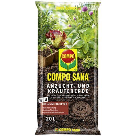 COMPO SANA® Anzucht- und Kräutererde 20 Liter