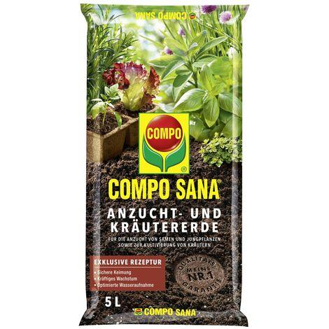 COMPO SANA® Anzucht- und Kräutererde 5 Liter