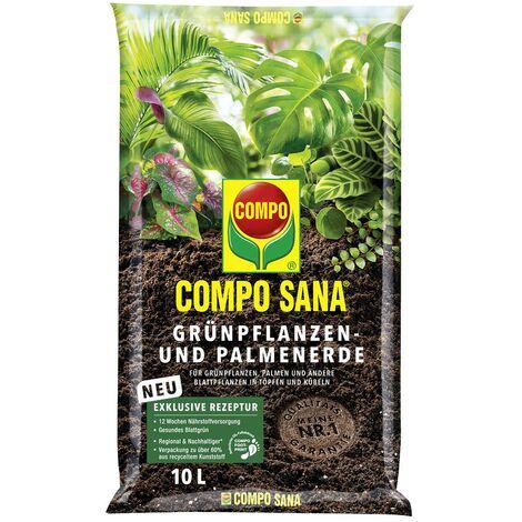 COMPO SANA® Grünpflanzen- und Palmenerde 10 Liter