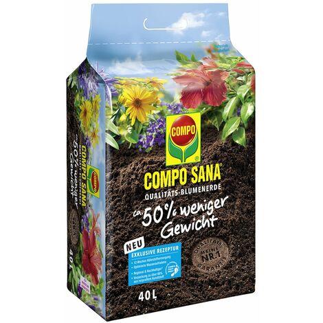 COMPO SANA® Qualitäts-Blumenerde 50 % weniger Gewicht 40 Liter