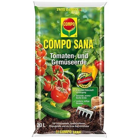 Compo Sana Terreau pour tomates et légumes 20 L