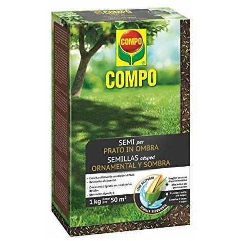 """main image of """"COMPO SEMI per Prato in Ombra, Miscela Speciale, Seme Ricoperto, Resistente al Calpestio, 1 kg"""""""