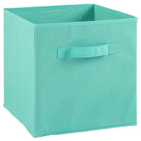 COMPO Tiroir de rangement - Tissu - 27 x 27 x 28 cm - Bleu turquoise Generique