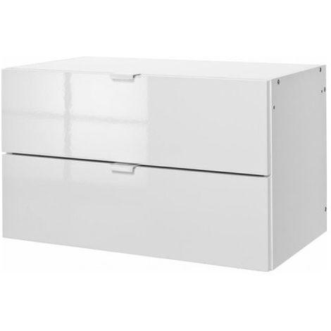 Composad CS0732K30404 Modulo componibile cassettiera per mobile LB0730 e  LB0731 laccato bianco cm 36x35x59
