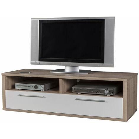 Mobiletto Porta Tv Angolare.Composad Mobile Porta Tv Con Cassettone Legno Rovere E Laccato