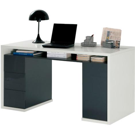 Salone Negozio Online Kit SCRIVANIA Star CM.79X43X78H Bianco Alpes