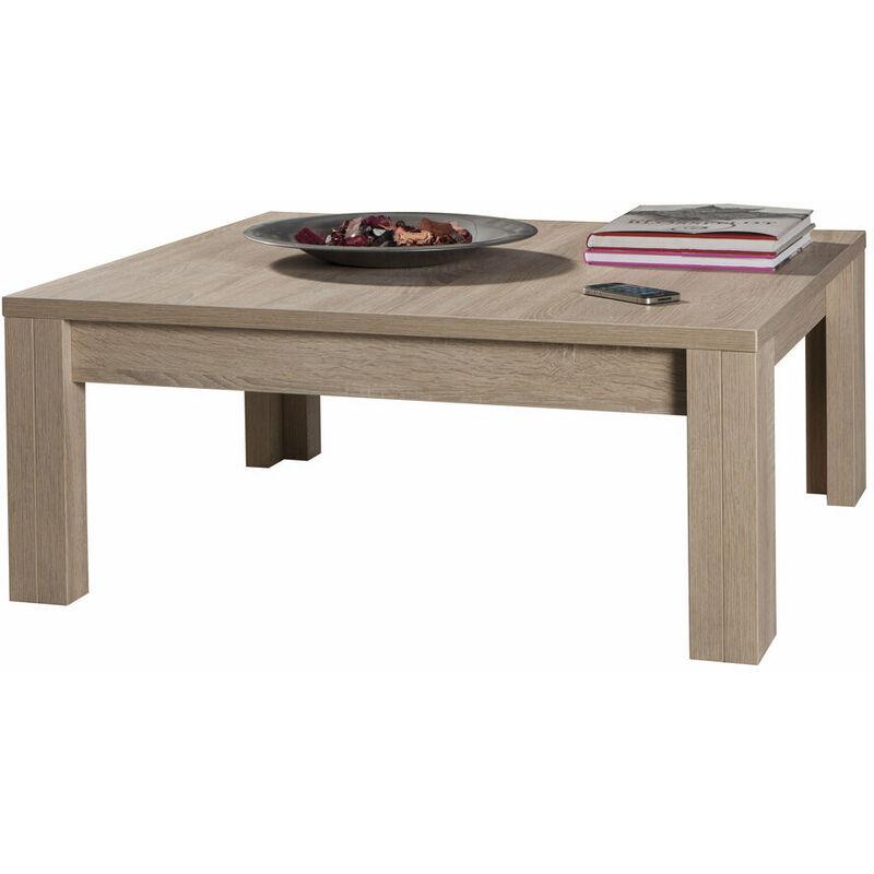 COMPOSAD Tavolino salotto basso moderno legno rovere sonoma TL4718 L90h37p90