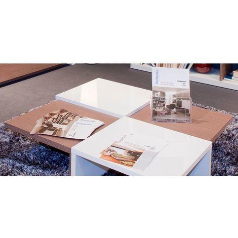 COMPOSAD Tavolo a scacchi per soggiorno moderno laccato bianco rovere  TL6622 L100h25p100