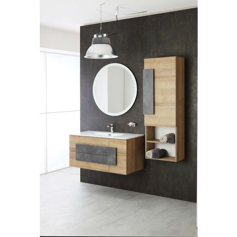 Composición de baño instalación suspendida 100 cm Feridras Urban 804002 | roble gris
