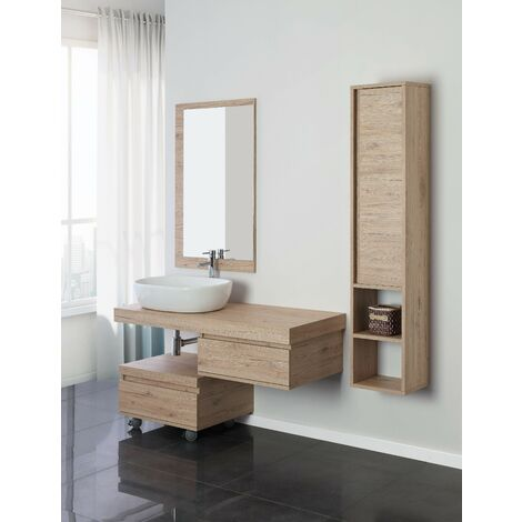 Composición de baño suspendida Feridras shelf 801014 | roble claro