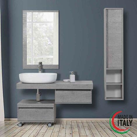 Composición de baño suspendido en color cemento Feridras shelf 801013 | Hormigón