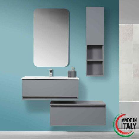 Composición de baño suspendido independiente 90 cm gris Feridras Pastello 803003 | Gris