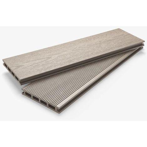 Composite Decking Board Silver Birch 4m 145 x 21mm profile