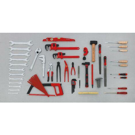 Composition 59 outils plombier chauffagiste climaticien SAM - CP59