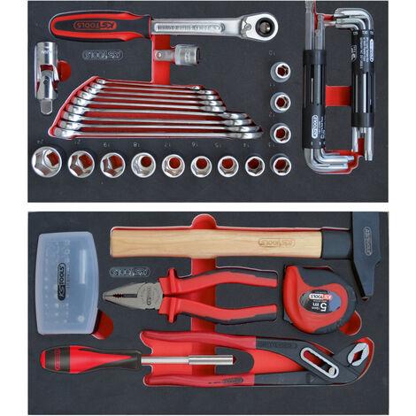 Composition 77 outils pour servante mobile bi-matière 850.0340