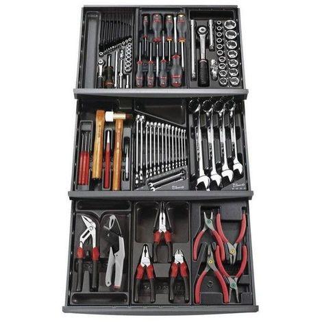 Composition 9 modules 3 tiroir 101 outils mécanicien servante FACOM 1029.6000