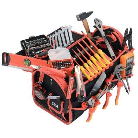 Composition de 125 outils électricité en boîte textile XPELEC1