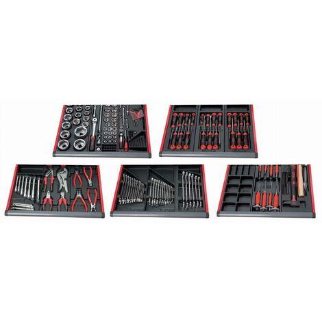 Composition de 166 outils pour mécanique poids lourds en module abs 3/3 SAM - CP166A