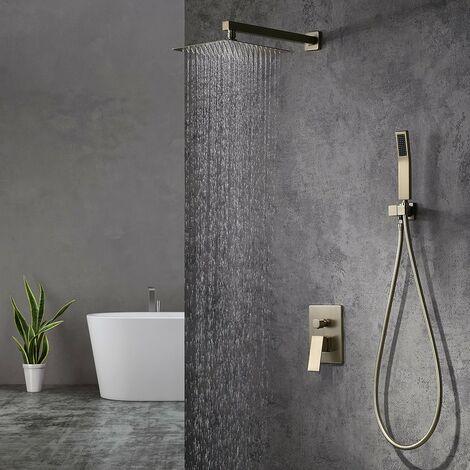 Composition de douche avec tête de douche - Doré brossé